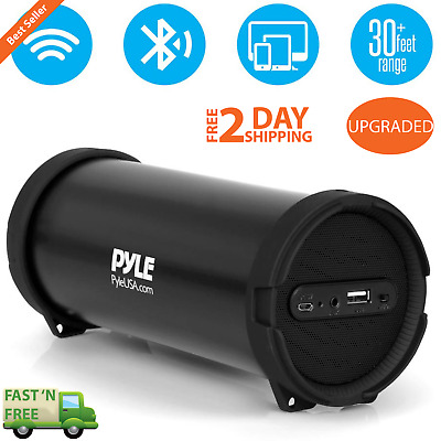 Rechargeable Portable Wireless Bluetooth Boombox Speaker Stereo MP3/USB/FM/AUX