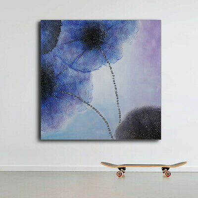 Wall Art Decor Lotus Oil Painting Modern Abstract Hand Painted  Canvas Framed
