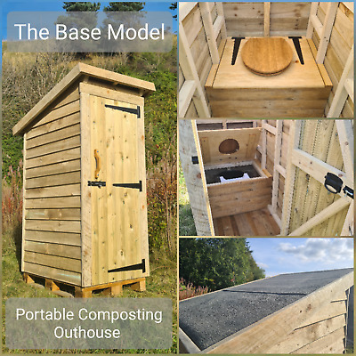 PORTABLE COMPOSTING OUTHOUSE BASE MODEL waterless toilet, eco, offgrid WC
