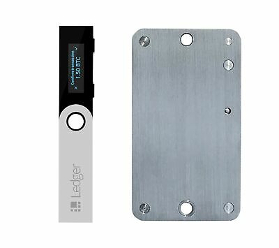 Ledger Nano S Cryptocurrency Hardware Wallet with SteelWallet Cold Seed Stora...