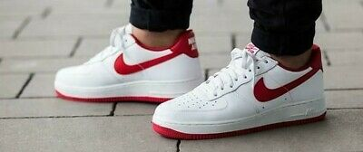 5e65d547 NIKE Air Force 1 Low Retro 845053-100 UNIVERSITY RED SIZE 9 USA 2016 NEW