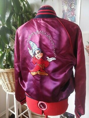 Disney Fantasia Incredible Condition Bomber Jacket  Mickey Mouse Vintage Size M
