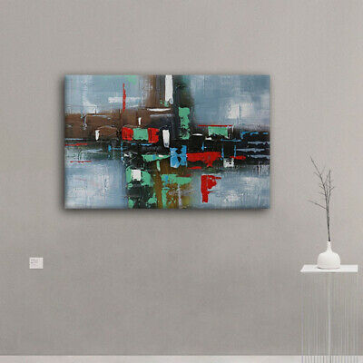 Genuine Hand-painted Abstract Wall Art Stretched On Canvas Oil Painting Framed