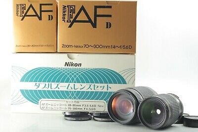 *UNUSED* Nikon Double Zoom Lens Set AF NIKKOR 70-300mm f4-5.6D 28-80mm f3.5-5.6D