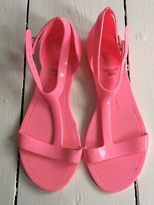 Kids Girls Gap Pink Jelly Sandals Size 1