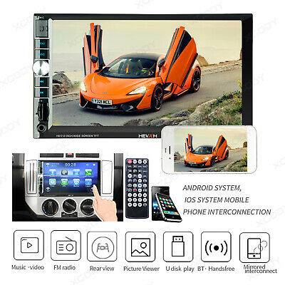 """2 Din Car Radio Audio 7"""" Touch Screen MP5 Player USB TF IOS/Android Mirror Link"""