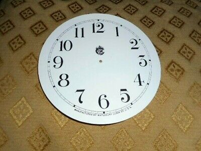For American Clocks- Waterbury Paper Clock Dial-124mm M/T- GLOSS WHITE- Spares
