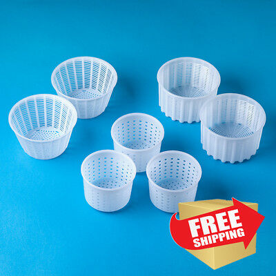 Cheese making kit | Cheese molds 0.25-0.6kg for soft cheeses | For cheese makers