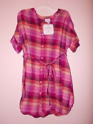 a132956a9f1f2 Ingrid And Isabel Women's Size Medium Short Sleeve Plaid Maternity Blouse