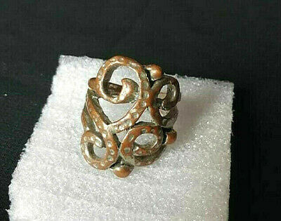 Wonderful Ancient Medieval Bronze Ring Artifact Museum Quality **FREE SHIPPING**