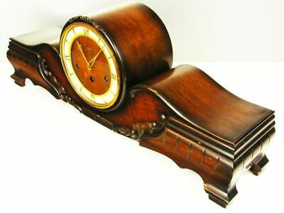 Art Deco Westminster Chiming Mantel Clock From Mauthe