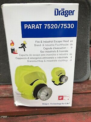 Drager PARAT Emergency Escape Hood-Oxygen-Mask-Respirator-toxic-fire-gas-7520