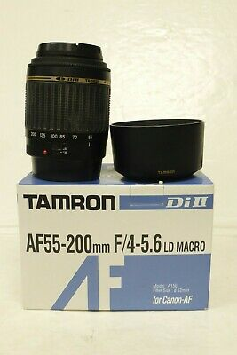 Tamron 55-200mm F4-5.6 Di II LD MACRO zoom lens for Canon DSLRs - Boxed