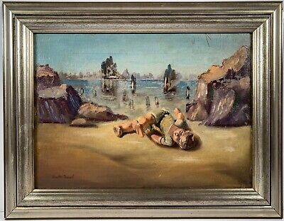 Listed Artist Walter Tandy Murch (1907-1967) Signed Surrealist Oil On Canvas