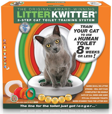 Pet Accessories Cat Three Training Special Litter Toilet Seat Set DVD Included
