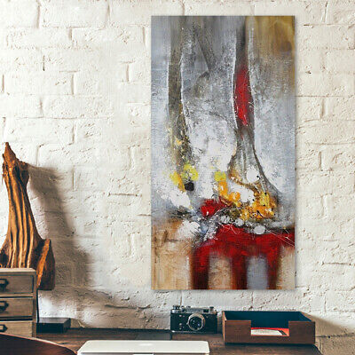 Hand-painted Modern Huge Abstract Oil Painting Wall Art Decor 80*150cm Framed