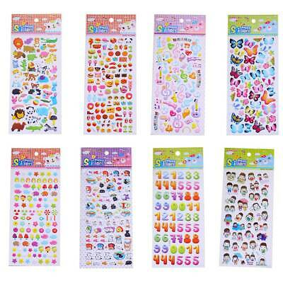 8 Sheets Bubble Puffy Stickers Cute Decoration Animal Cartoon Stickers for Craft