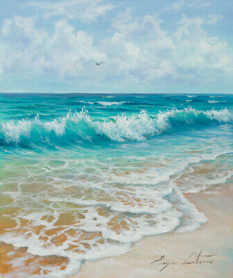 J. Litvinas Original Oil Painting 'COAST' 10 by 12 inches