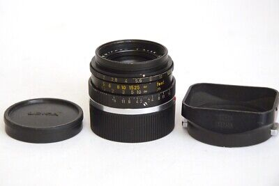 Leitz Canada Leica Summicron 35mm F2 M Mount with Caps and Lens Hood