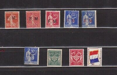 France 1907/64  Lot De Timbres De Franchise Neufs **