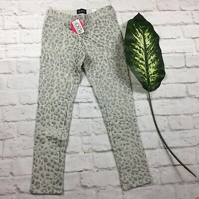 The Childrens Place Grey Silver Glitter Fleece Leggings Size Girls M 7-8 NWT