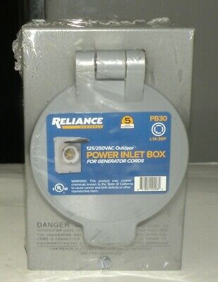 reliance generator outlet box