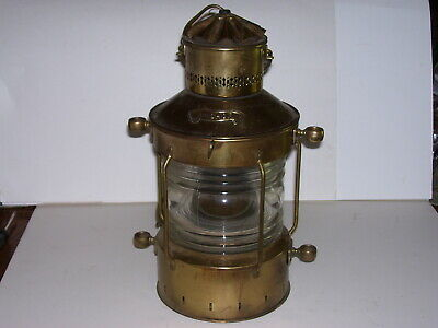 Vintage Anchor Brass Electric Hanging Ship Lantern Light Lamp