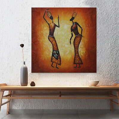 Framed Abstract Oil Painting Canvas Hand Painted Home Decor Wall Art Dancers