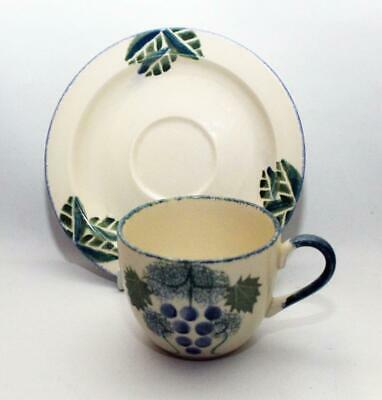 Poole Pottery Early Vineyard Pattern Tea Cup & Saucer
