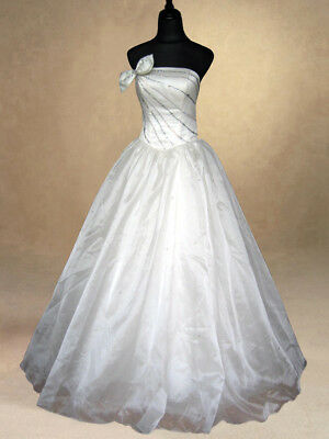Ivory Bridal Wedding/Evening/Prom/Party/ Ballgown Dress Size 8/10 Formal