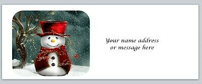 xco 327 Personalized address labels Primitive Country Snowman Buy 3 get 1 free
