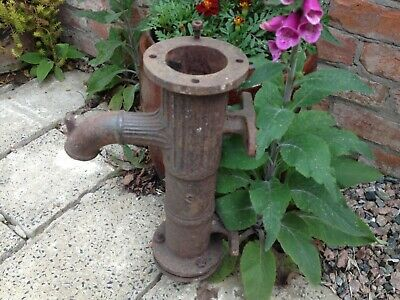 Antique Victorian cast iron water pump