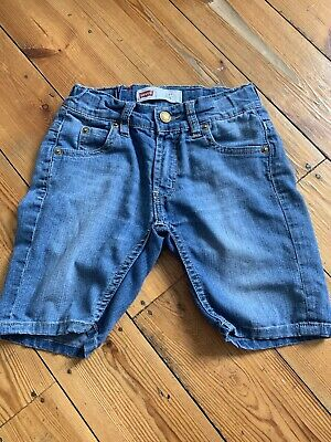 Levis Boys Blue Denim Shorts With Pull In Waist Age 6