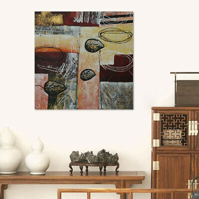Abstract Hand Painted Canvas Oil Painting Wall Art Home Decor Framed Defoliation