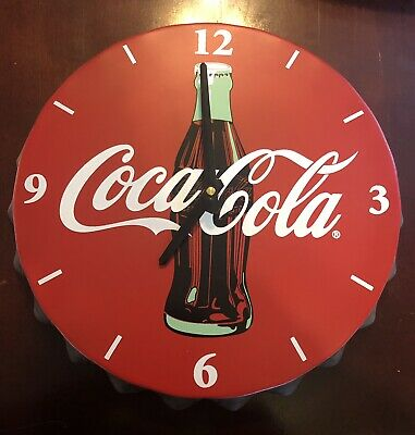 "Coca Cola 12"" Bottle Cap Clock (Newer)"