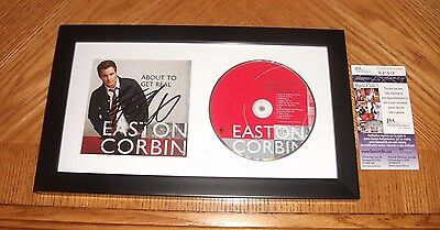 Easton Corbin SIGNED About To Get Real CD *Autographed* Framed W/JSA COA!