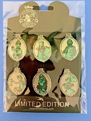 Disney 6 Pin Set Haunted Mansion Ghosts Compete Limited Edition Brand New LE