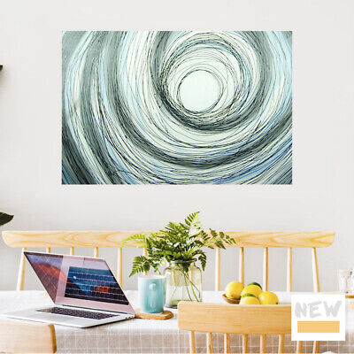 Hand Painted Canvas Oil Painting Home Wall Art Decor Framed - Abstract Universe