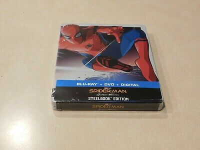 Spider-Man Homecoming Steelbook (Blu-ray, DVD, Digital HD) Fast Shipping
