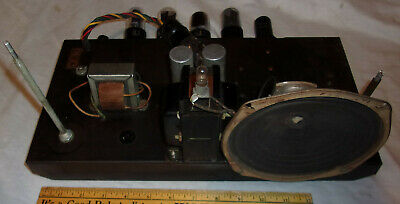 "Webster Chicago Tube Amp 6K6GT ""DIY Fi"" Audio 1950 Clean! Works! w/ 6E5 Green!!"