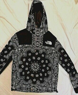 02351b8b SUPREME X THE North Face TNF Bandana Paisley Mountain Jacket Red XL ...