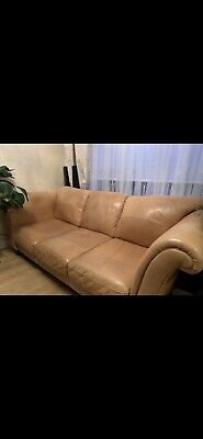 Large Italian Leather Sofa 3 Or 4 Seater