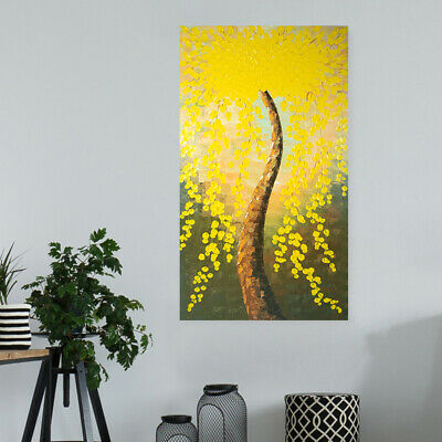 Abstract Hand Painted Art Canvas Oil Painting Home Decor Framed Flower Tree