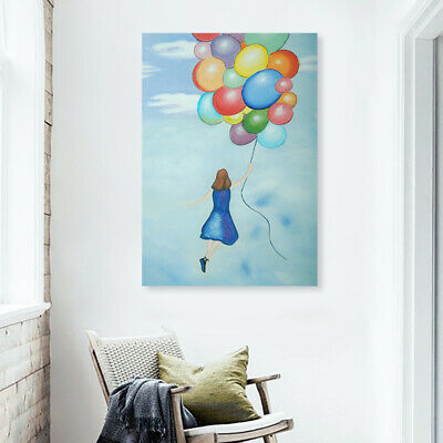 Abstract Hand-painted Art Oil Painting Wall Decor Canvas - Framed Balloon Girl