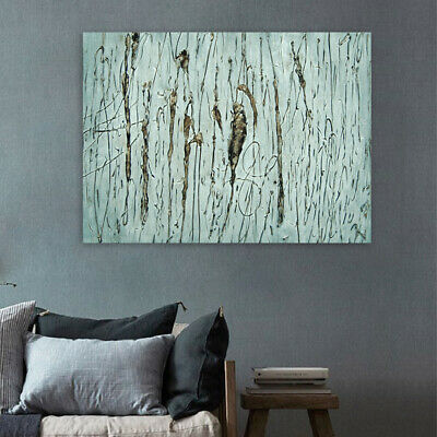 Hand Painted Abstract Line Art Canvas Oil Painting Modern Home Decor Framed