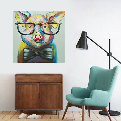 Hand-Painted Oil Painting - Dr. pig| Modern Abstract Wall Art Decor With Frame