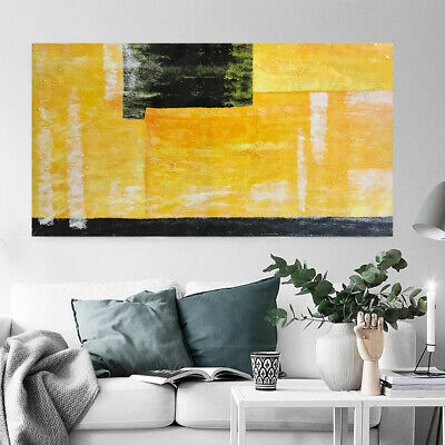 Framed Abstract Pattern Hand Painted Oil Painting Stretched Canvas Wall Art