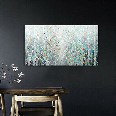 Abstract Hand Painted Art Canvas Oil Painting Home Decor Snowflake Trees Framed