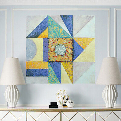 Pure Hand Painted Abstract Art Canvas Oil Painting Modern Home Decor - Framed