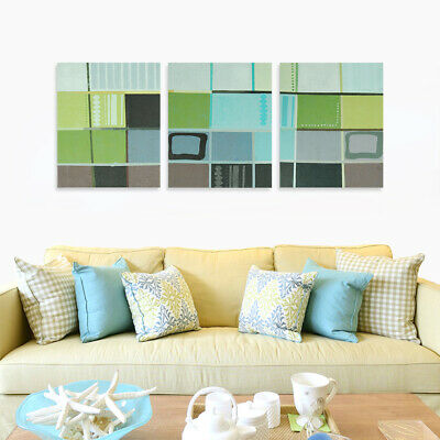 Abstract Hand Painted Canvas Oil Painting Wall Art Home Decor Framed - Checked